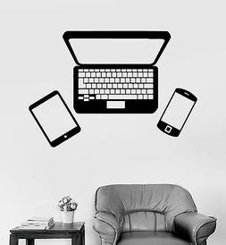 Vinyl Wall Decal Gadgets Laptop Phone Tablet Stickers Mural
