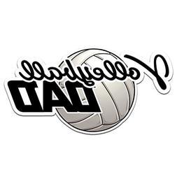 "Volleyball Dad Color Vinyl Sports Car Laptop Sticker - 6"""