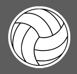 Volleyball Sticker Volleyball DecalWater Bottle Laptop Spo