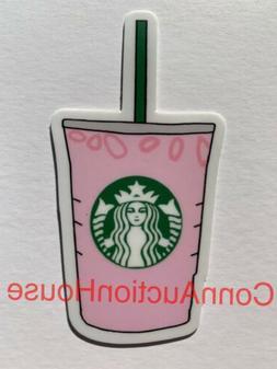 VSCO Starbucks Pink Drink Sticker Hydro Water Bottle Laptop