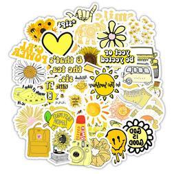 Yellow Stickers Cute Laptop Water Bottles Mug Flask Decal fo