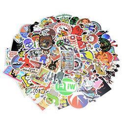 100 Pcs Waterproof Vinyl Stickers for Personalize Laptop, He