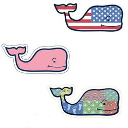 3X VINEYARD VINES Whale Vinyl Stickers - American Flag, Patc