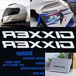 White Gixxer Sticker Helmet Body Fairing Pipe Decal Laptop N