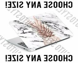 White Marble Rose Gold Pineapple Laptop Skin Decal Sticker T