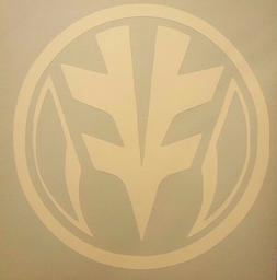 White Power Ranger Logo Vinyl Sticker Decal home laptop choo