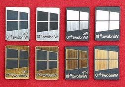 Windows 10 & Pro Metal Silver/Gold/Black Case Badge Sticker