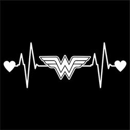 Wonder Woman Heartbeat Vinyl Decal Sticker Cars Wall Laptop
