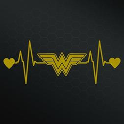 Wonder Woman Heartbeat Vinyl Decal Sticker | Cars Trucks Van