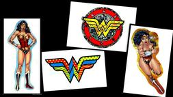 WONDER WOMAN LOGO LAPTOP STICKER DECAL~DC COMICS SUPERHERO~B