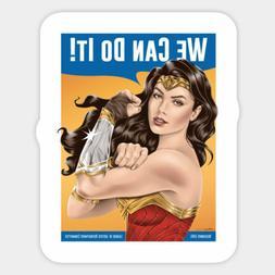 Wonder Woman Riveter We Can Do It  Vinyl Decal Wall Decor Bu