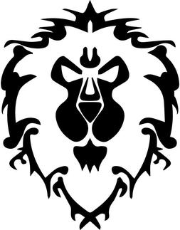 World of Warcraft Alliance Sticker Cut-Out / Vinyl Decal for