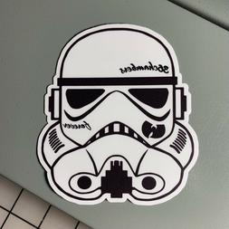 """Wu-Tang Sticker, Includes 2 Stickers, 4"""" Tall, Laptop, Vinyl"""