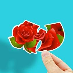 """Wu-Tang Sticker, Includes 2 Stickers, Rose, 4"""" Wide, Vinyl,"""