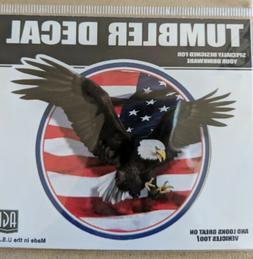 Yeti USA Flag Eagle Decal Yeti Tumbler Decal Bumper Sticker