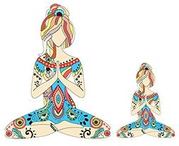"""Yoga Girl 5"""" waterproof sticker for car or laptop. Empower t"""