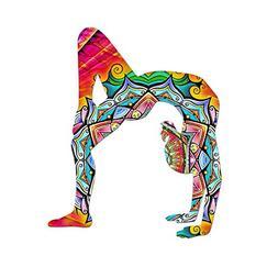 Yoga Mandala Rainbow Silhouette Color Vinyl Sports Car Lapto