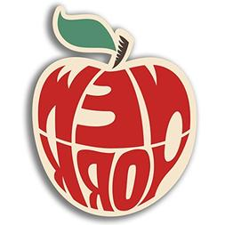 2 x 10cm/100mm New York Big Apple Vinyl Sticker Decal Laptop