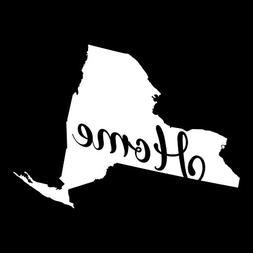 New York Home State Vinyl Decal Sticker | Cars Trucks Vans W
