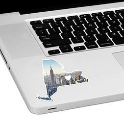 "New York Love Laptop Trackpad Sticker 3"" tall x 4"" wide"