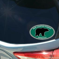 Yosemite National Park bear oval sticker decal California ca