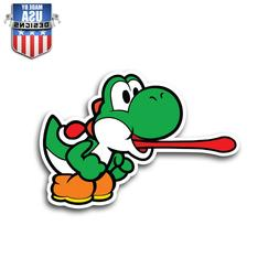yoshi tongue mario sticker decal phone laptop