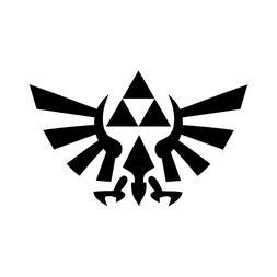 Zelda sword sign vinyl decal car bumper sticker video game f